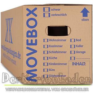 SONDERAKTION MOVEBOX Umzugskartons 2-wellig profi Umzugskisten doppelter Boden