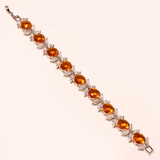 "Citrine Topaz Faceted Handmade Jewelry CZ Tennis Bracelet 7"" To 8"" RD-85251"