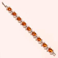 "Citrine Topaz Faceted Handmade Jewelry CZ Tennis Bracelet 7"" To 8"" RD-85251"