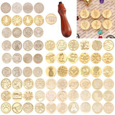Retro Letter Envelope Wax Seal Stamp Wooden Handle Sealing Wax DIY Wedding Craft