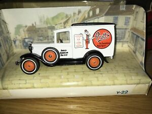 Matchbox Models Of Yesteryear 1930 Ford A Y22-1 Van Boxed Pratts