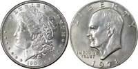 1900 Morgan Dollar BU Uncirculated 90% Silver with 1978 IKE$ BU Uncirculated