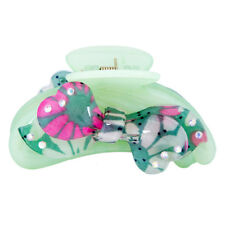 Beautiful Green Hair Claw Clamp Clips Butterfly Claw Clamp Banana Clip Ponytail