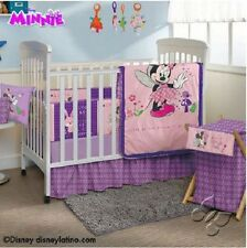Baby Girl Purple & Pink Disney Minnie Mouse 12 Piece Crib Bedding Set
