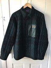 Patagonia Men's Wool down shirt jacket Medium Plaid black and green