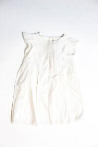 Bonpoint  Childrens Girls Cotton Angelina Dress White Size 3