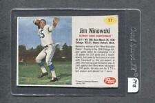 1962 Post #57 Jim Ninowski (Lions) (PT18) (Red)  Vg  (Flat Rate Ship)  A2