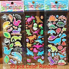 10pcs New Bubble Stickers 3D Cartoon KIds ClassicToys Sticker School Reward Gift