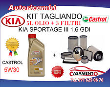 KIT TAGLIANDO KIA SPORTAGE III 1.6 GDI 99KW + 5L OLIO CASTROL 5W30 DAL 02/11->