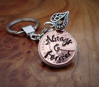 15th Wedding Anniversary Personalised Copper Penny gift for her gift for him