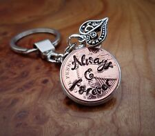 2012 7th  Anniversary Personalised Copper Penny gift for her gift for him