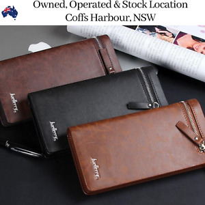 Women Brown Leather Coin Purse Wallet Cash Credit Card Holder Clutch Wallets NEW