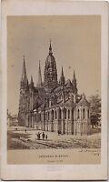 Cattedrale Da Bayeux Foto Albume D'Uovo CDV D' Dopo Una Incisione Antica Ca 1860