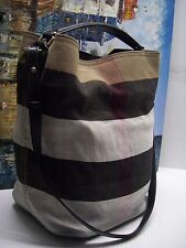 Burberry Brit 'Medium Susanna' Check Print Bucket Bag - $795