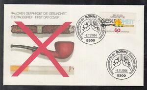 Germany 1984 FDC -  Anti-Smoking Campaign