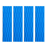 4 Pieces EVA Surfing SUP Skimboard Surfboard Traction Pad Bar Grips Sky Blue
