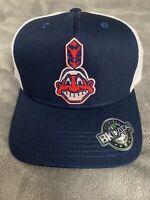 CLEVELAND INDIANS MLB Vintage Throwback Old Logo Baseball Trucker Hat Cap A1 NEW