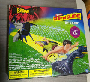 Wham-O Original Slip N Slide BATMAN 16 Foot Summer Water Toy 2003 New