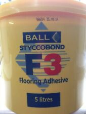 F.Ball Styccobond F3 Carpet Adhesive 5 Litres/ Water Based Rubber/Resin Adhesive