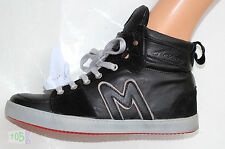 NEUF @@  BASKETS MONTANTES CUIR SNEAKERS +  MASCARET ABEL Smooth black + 39