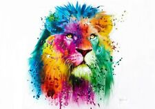 LION BY PATRICE MURCIANO STANDARD SIZES POP ART PRINTS-KEYRINGS-MUGS