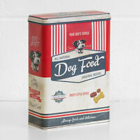Retro Dog Food Advert 4L Metal Storage Biscuit Kitchen Container Canister Tin
