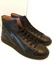 MARC JACOBS leather HI-TOP mens sneakers size  EU42 UK 8 in black S87WS0248