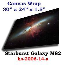 Starburst Galaxy M82 Hubble JPL NASA Spitzer space telescope Canvas art print
