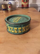 Vintage Simoniz Kleener Tin Can Automobiles & Furniture Oil Chicago Advertising