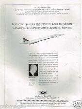 Publicité advertising 1993 Tour Du Monde en Avion Concorde TMR