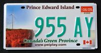 CANADA PRINCE EDWARD ISLAND WINDMILL - GREEN PROVINCE PEI Graphic License Plate