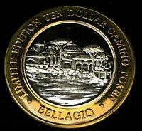 .999 $10.00 Bellagio Casino Silver Strike • Las Vegas • Village