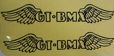 GT Bike Decal Sticker BMX Wings Pair Park Street Racing Bicycle 5.25 x 1