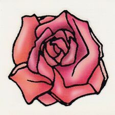 FULL OPENED RED ROSE VALENTINES DAY! Temporary Tattoo