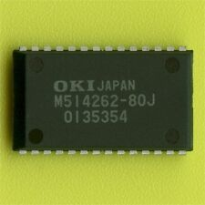 16× MSM514262 DUAL‑PORT VIDEO RAM 256Kx4/512x4 150/30ns 5V SOJ-28 SMD SMT VRAM †