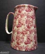 Heron Cross Pottery LAURA (RED) 4 Pint English Milk Jug very big (vase)