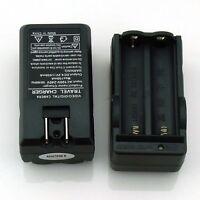 Dual Battery Smart Charger USA Plug For 3.7v Rechargeable 18650 Li-ion Battery