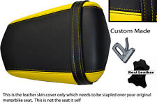 BLACK AND YELLOW  CUSTOM 03-05 FITS YAMAHA 600 YZF R6 REAR LEATHER SEAT COVER