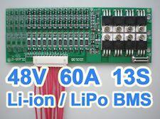 48V 54.6V 13S 60A Lithium ion Li-ion Li-Po LiPo Polymer Battery BMS PCB System