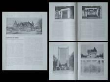 CONSTRUCTION MODERNE 1925 EXPOSITION ARTS DECORATIFS, KIOSQUE, BEAU DE LOMENIE