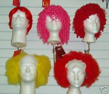 Medium Curly, Ringlets, Red Clown Wig, Dimples!
