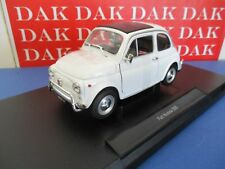 Die cast 1/18 Modellino Auto Fiat 500L 1968 bianca by Welly