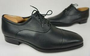 Magnanni Federico Men's Oxfords Cap Toe Dress Shoes Black Leather Size 8.5 D