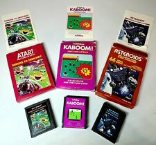 ATARI 2600 LOT OF 3 Demons To Diamonds, Kaboom, Asteroids Pre-Owned Video Games