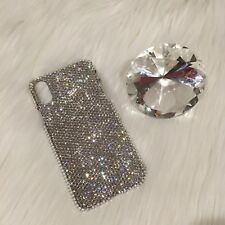 For iPhone X Small 12ss CRYSTAL Clear Bling Back Case made w/ Swarovski Crystals