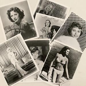 40s 50s Glossy 8x10 Photograph Lot 7 Beautiful Actress Model Starlets Sexy