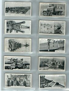 MODERN WEAPONS OF WAR - WILLS CIGARETTE CARDS 50/50