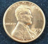 1959 D Lincoln Memorial Cent Penny (BU) Brilliant Uncirculated US Coin