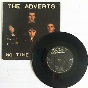 """The Adverts – No Time To Be 21 / New Day Dawning 7"""" vinyl.BR 1. 1978 punk. VG+"""