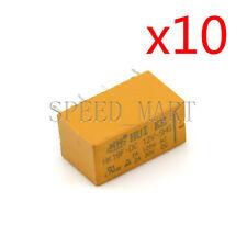 10 pcs High Quality 8 Pins RELAY 12V DC Coil Power Relay PCB < HK19F-DC12V-SHG>